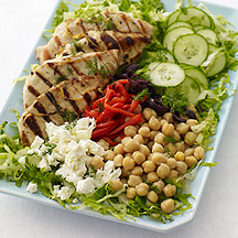 Lemon Dill Greek Grilled Chicken Salad